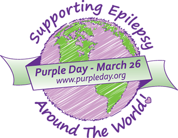 Supporting Epilepsy Around The World - Purple Day - March 26